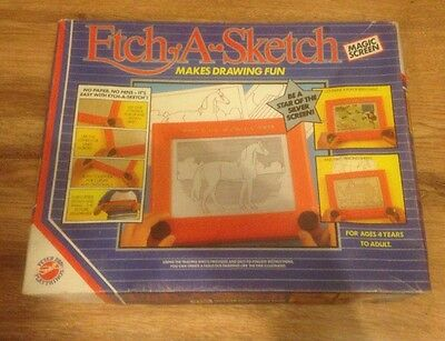 Vintage Etch A Sketch Magic Screen Peter Pan Playthings 1986 VGC!
