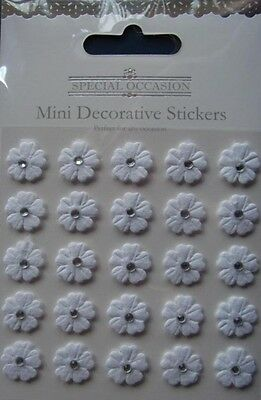 SPECIAL OCCASION Mini Flower Embellishments ~ (Pack of 25)