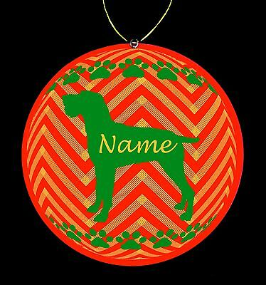 German Wirehaired Pointer Breed Personalized Christmas Ornament