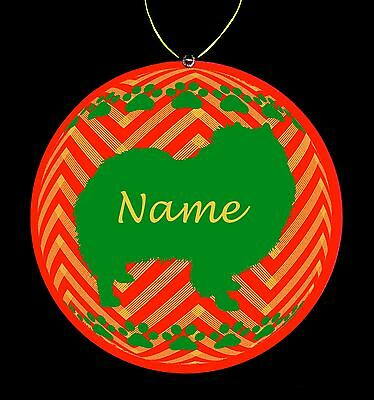 Keeshond Breed Personalized Christmas Ornament