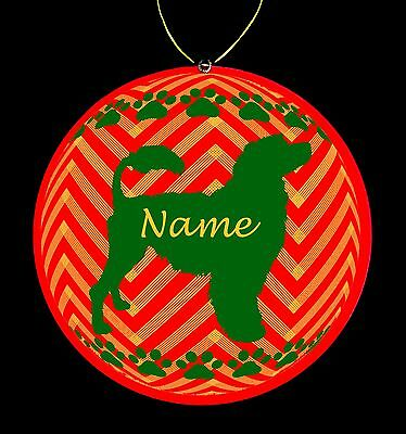 Portuguese Water Dog Breed Personalized Christmas Ornament