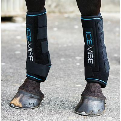 NEW Horseware Ice Vibe Tendon Boots Cool Vibrating Circulation Therapy FULL SIZE