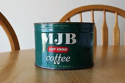 VINTAGE MJB COFFEE TIN 1 Lb. FULL SEALED and UNOPENED W/KEY