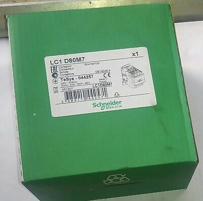 Schneider Electric LC1D80M7 Contactor 220V coil TeSys-044078 NEW IN BOX  FRANCE