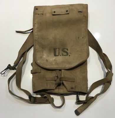 Original WWI AEF U.S. Army Haversack M1910 Dated 1918 Made BY LONG