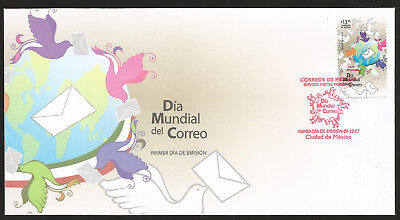 J) 2017 Mexico, Worl Mail Day, Fdc
