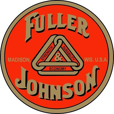 Official Fuller & Johnson Water Slide Off Decal