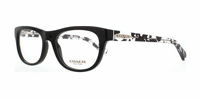 Coach Eyeglasses HC6081 5348 Black Black Crystal Mosaic Frame / Clear Lenses