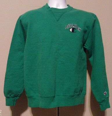 Champion Vintage Authentic Green Men's Sweatshirt Size Large Made In USA Women's