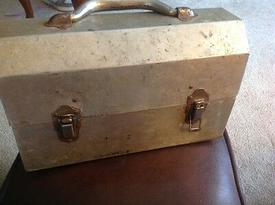 Vintage 1950's Coal Miner's Lunch Can/ Box By L May MFG, Ontario