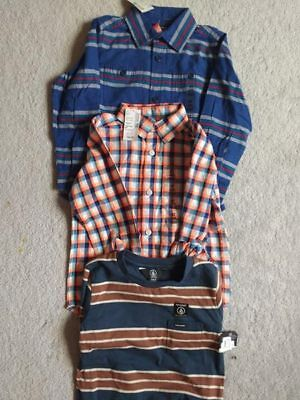 4 T Boys tops , nwt. Volcom, Childrens Place Lot of 3