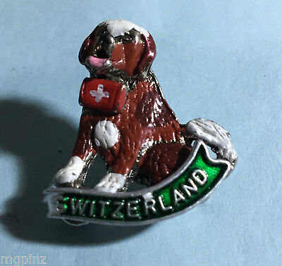 Switzerland - Alps - St Bernard Rescue Dog -Souvenir Travel Pin