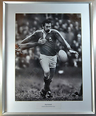 Vintage Rugby Photograph Ltd Ed Print Ray Gravell Llanelli Scarlets