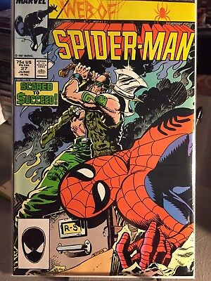 Web of Spider-Man #27 May 1987 Marvel - NM! Blacksuit