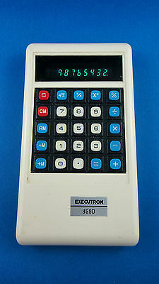 Executron 899D -Vintage Electronic Calculator - Tested Works