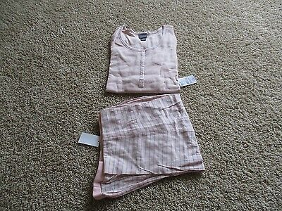 BNWT Oh Baby by Motherhood™ Maternity 2-Piece Pajama Set, Size L, Pink, $54