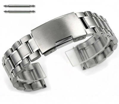Stainless Steel Metal Bracelet Replacement Watch Band Strap Push Button Clap
