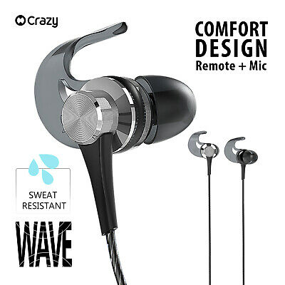 Crazy Genuine Earbuds Earphones Mic for iPhone iPad iPod Samsung SMART PHONE