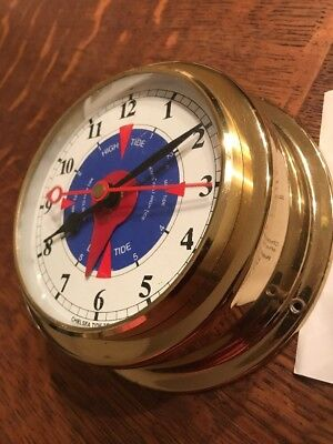 CHELSEA MA Maritime TIDE Teller TIME CLOCK  VTG Xmas Shore Beach High Club Screw