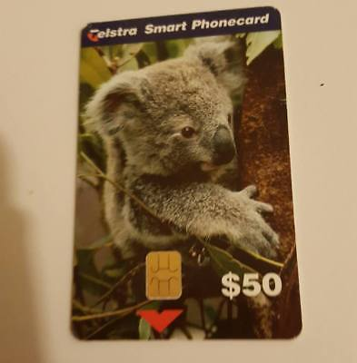 TELSTRA smart phonecard-THE KOALA- $50 CARD.-BARGAIN !!!