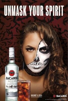 """Bacardi """"Unmask Your Spirit"""" Poster 24 By 36"""