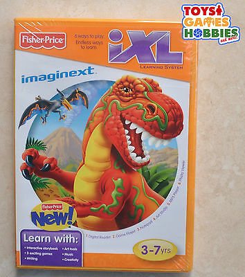 Fisher-Price iXL Software Imaginext Dinosaurs Game Learning Cartridge NEW