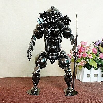 "11"" Chinese alloy Hand-made magic series knife animal model statue XY23"
