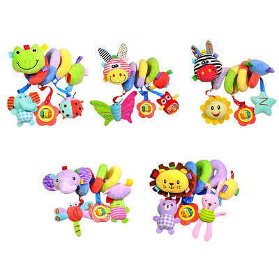 Baby Stroller Soft Hanging Bell Rattle Bed Around Spiral Activity Plush Toys