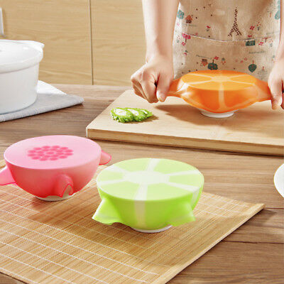 Silicone Bowl Seal Wrap Cover Refrigerator Food Fresh Keeping Closures Lids 1PC