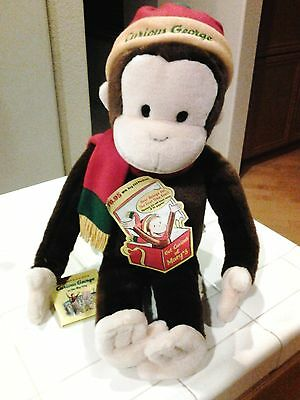 "Large Curious George Macy's 24"" Plush with Book"