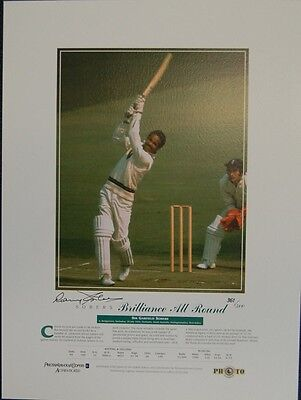 Sir Garfield Sobers Hand Signed West Indies Limited Edition Print - Certificate