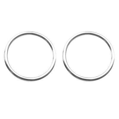 2pcs/set 40mm 316 Stainless Steel Precision Polished Welded O Ring Craft