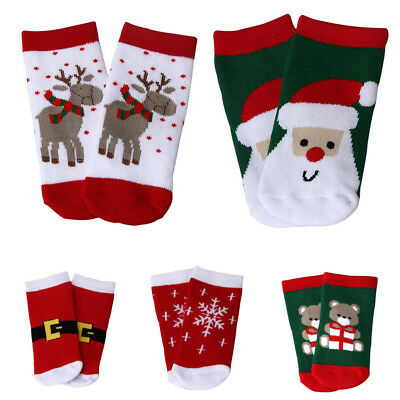 Baby Kids Toddlers Boys Girls Winter Socks Christmas Gift Warm Sock Age 1-6T