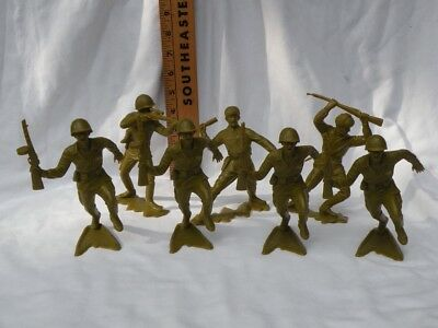 (7) Marx 6-inch Russian Soldiers All 6 poses, Excellent & Original Marx 1964