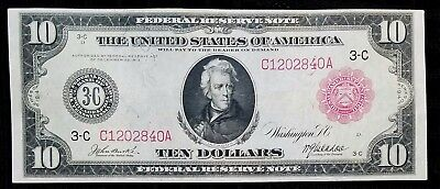 Fr 894b 1914 $10 Red Seal Federal Reserve Note