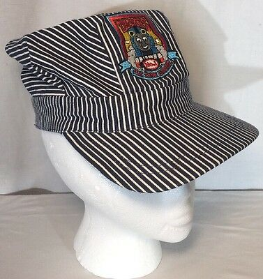 Thomas The Tank Engine Hickory Striped Engineers Cap Hat Youth Size Sewn Logo