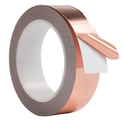 30mm*4m Copper Foil adhesive Tape EMI shielding, double sided conductive AU