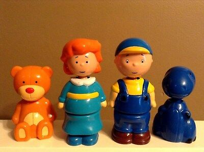 "Caillou Figure Lot Rosie Pop Apart Puzzle Mix & Match Doll Pbs Kids 3.5"" - 5.25"""