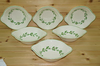 Steubenville Orange Blossom Adam Antique (6) Lugged Cereal Bowls, 6 3/4""