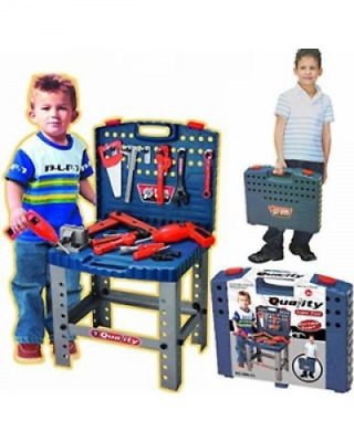 Kids Play Tool Set Boys Toys Hand Tools Set Work Bench Table Box Educational Toy