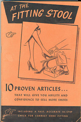 At The Fitting Stool Vintage Book About Fitting and Selling Shoes 1951 Feet pics