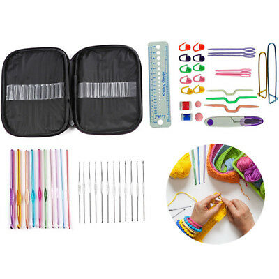 49pcs Crochet Weaving Tool DIY Knitting Needles Measure TapeSewing Scissors Hook