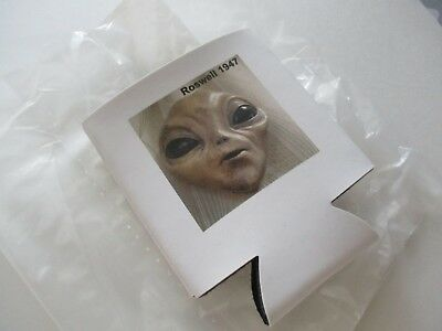 Can Cooler Coasters Roswell Nm Ufo Alien Face Souvenir Collectible