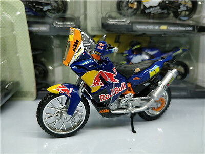 Bburago 1:18 KTM 450 Rally Red Bull Model Bike