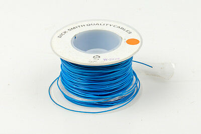 Building Wire Electrical Cable 0.1mm2 PVC Insulated 100m Roll of Blue Cables