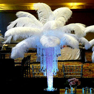 High quality White Ostrich Feathers 10-12 Inch/25-30cm 100pcs  Wedding carnival