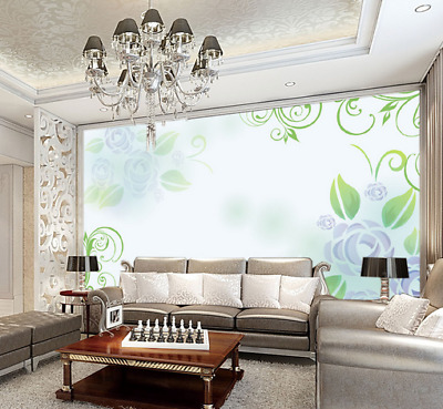 3D Simple Style Rose 7 Wall Paper Murals Wall Print Wall Wallpaper Mural AU Kyra