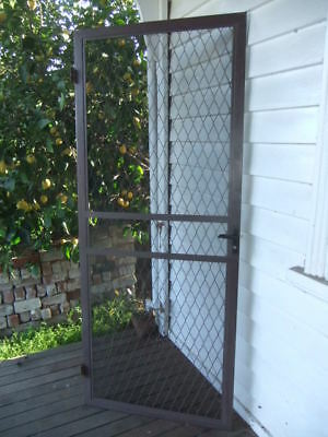 Solid Metal Aluminium Security Door 813 w X 2030 h Fly wire Flyscreen Shed House