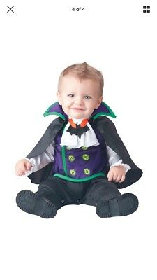Count Cutie Vampire Dracula Halloween Toddler Baby Infant Costume 12-18 Months