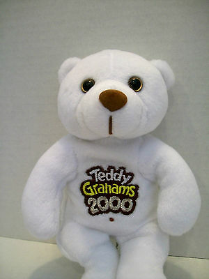 TEDDY GRAHAMS Beanbag Stuffed Plush 2000 MILLENIUM BEAR